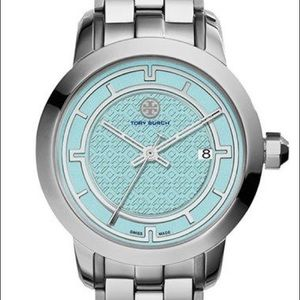 Tory Burch Stainless Steel teal & silver watch